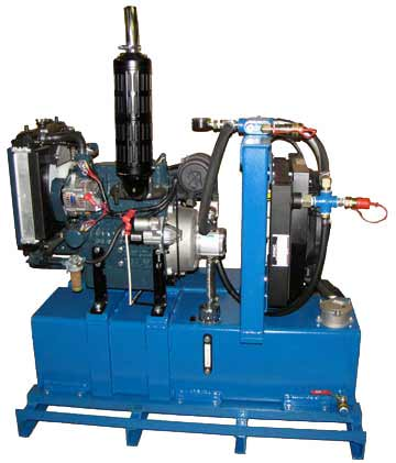 25 Horse Power Diesel Hydraulic Power Packs