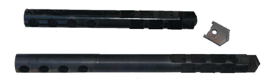 "3""-24"" Pilot Drill Shafts and Tips with Retention Wire"